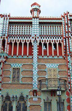 Casa Vicens is a family residence in Barcelona, designed by Antoni Gaudí and built for industrialist Manuel Vicens. It was Gaudí's first important work.