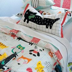 Beautiful bed linenoh wow I just bought this fabric at spotlight the other day!!! Going to make something for b & c's toy room!