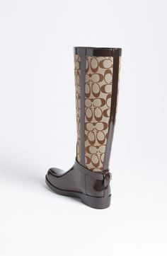 COACH 'Lux' Rain Boot - I don't think I'll ever want these to get wet though.