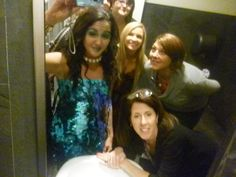 Bathroom mirror Group selfie!