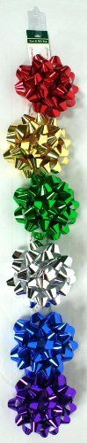 *** (This item sold as a pack of *** 12 jumbo galaxy bows on hang tabs. Preloaded on a clip strip. Christmas Tree Bows, Xmas Ornaments, Xmas Tree, Metallic Colors, Xmas Decorations, Traditional, Christmas Ornaments, Christmas Ornament, Christmas Tree