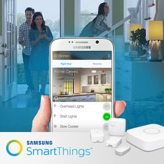 SmartThings is the easiest way to turn your home into a smart home. Monitor, control, and automate your lights, locks, temperature, and more from anywhere using your smartphone.