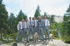 Kirkwood HideOut wedding and groom's attire. Dogs at weddings. Photographed by Emily Heizer Photography