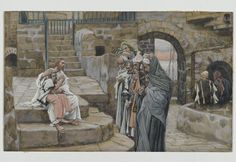 James Tissot (French, 1836-1902). Jesus and the Little Child (Jésus et le petit enfant), 1886-1896. Opaque watercolor over graphite on gray wove paper, Image: 5 3/4 x 9 3/8 in. (14.6 x 23.8 cm). Brooklyn Museum, Purchased by public subscription, 00.159.150 (Photo: Brooklyn Museum, 00.159.150_PS2.jpg)
