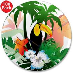 """#Toucan 3.5"""" #Button (100 pack)"""