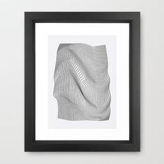 Minimal Curves Framed Art Print by Leandro Pita - $35.00