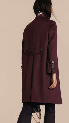 Abrigo de vestir en cachemir Baya Del Saúco Oscuro | Burberry