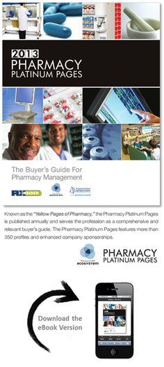 "B2B ECOSYSTEM --- 2013 Pharmacy Platinum Pages Buyer's Guide. Known as the ""Yellow Pages of Pharmacy,"" the Pharmacy Platinum Pages is published annually and serves the profession as a comprehensive and relevant buyer's guide. The 2013 Pharmacy Platinum Pages features more than 220 profiles and enhanced company sponsorships. Download the virtual format: http://www.rxplatinumpages.com/"