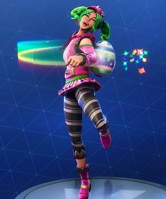 I finally own the Zoey skin . Cop Costume, Costumes, Epic Games Fortnite, Bear Crafts, Nun, Green Hair, Birthday Wishes, Stupid, Videogames