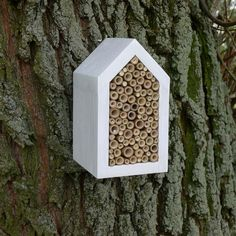 white house for Solitary bee simple eco by TheBirdOnTheTree