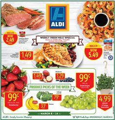 Aldi Weekly Ad March 8 - 14, 2017 - http://www.olcatalog.com/grocery/aldi-ad.html