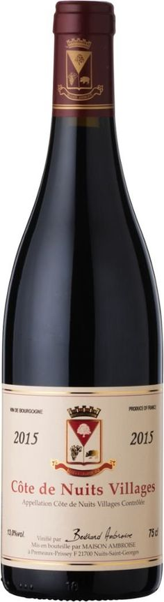 An elegant and complex Burgundy Pinot Noir without the eye watering price. The charming Ambroise Cotes de Nuits Villages over delivers in quality and price. Burgundy Wine, Red Wine, Wine Merchant, Pinot Noir, Bottle, Flask, Jars