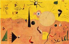 Joan Miro (1893 - 1983) | Surrealism | Catalan Landscape (The Hunter) - 1924