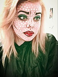 Pop art makeup, pop art