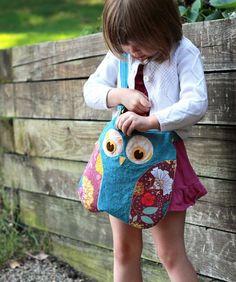 Image of Lola The Owl Pillow PDF Pattern and bonus Lola Owl Bag Pattern