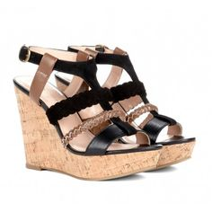 Super Sexy Tri Color Wedges Sole Society - Cut out wedges - Serina #sexy #tri_color #wedges #sole_society