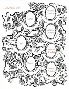 Color your genealogy page, by Marie Scott