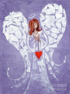 Easy Drawing Steps, Easy Drawings, Heart Painting, Diy Painting, I Believe In Angels, Angel Pictures, Feather Art, Black Girl Art, Angel Art