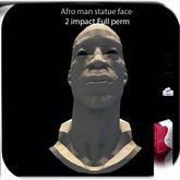 Statue Afro Man 2 impact AO/UV full perm