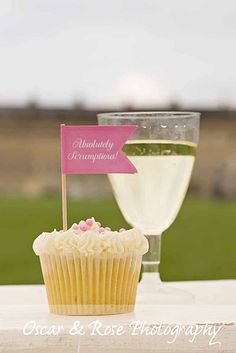 cupcake and champagne