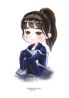 Cute Cartoon Drawings, Anime Girl Drawings, Girly Drawings, Anime Art Girl, Cartoon Profile Pics, Cartoon Pics, Girl Cartoon, Cartoon Art, Chibi Wallpaper