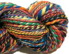 Handspun Yarn Waste Not Want Not  C 2 ply by SpinningWheelStudio, $25.60