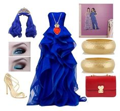 """""""My Evie set from descendants"""" by fashioninlodon ❤ liked on Polyvore featuring beauty, Kenneth Jay Lane, Valentino, Wigs2You and Ivanka Trump"""