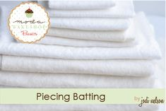 Joined and Piecing Batting ~ Don't throw away perfectly good scraps of batting! Learn how to join them together and put them to use! Use this great tip on your next project with fabric from the Fabric Shack at http://www.fabricshack.com/cgi-bin/Store/store.cgi