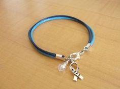 Hydrocephalus Awareness Bracelet Two Tone Blue by Twenty2Roses, $6.50 #Hydrocephalus #Awareness