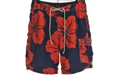 35708b03fb Reversible Abercrombie & Fitch Hawaiian Floral Cargo Board Shorts Swim  Trunks