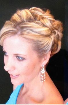Front view of wedding up do