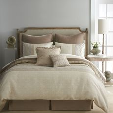 Shop for Modern Living Emery Brown/ White Comforter Set. Get free delivery On EVERYTHING* Overstock - Your Online Fashion Bedding Store! Queen Comforter Sets, Bedding Sets, King Comforter, Bedroom Chair, Bedroom Decor, Bedroom Ideas, Bath Decor, Glam Bedding, Luxury Bedding