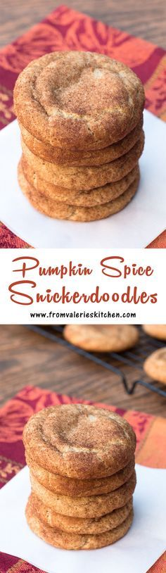 Classic snickerdoodles dressed up for fall! ~ www.fromvaleriesk...
