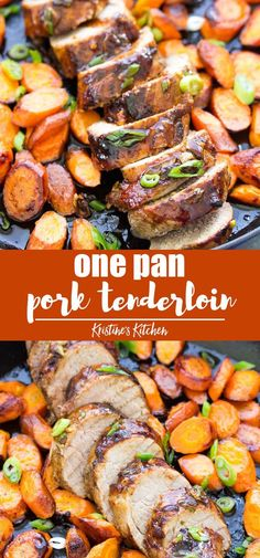 This easy pork tenderloin is marinated in a delicious honey hoisin sauce and then browned in a cast iron skillet (or any pan). Healthy Pork Tenderloin Recipes, Instant Pot Pork Tenderloin Recipe, Easy Pork Tenderloin Recipes, Oven Roasted Pork Tenderloin, Healthy Pork Recipes, Pork Roast In Oven, Roasted Pork Tenderloins, Pork Chops, Pork Tenderloin Side Dishes