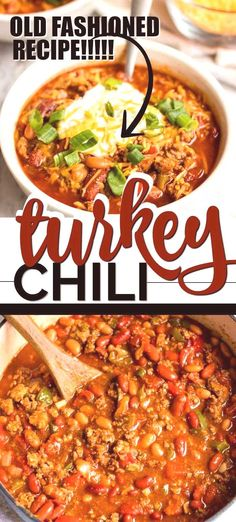 his Healthy Turkey Chili Recipe is a One-Pot Meal Game Changer – and It's Delicious! There's something nostalgic about a big hearty bowl of turkey chili. Growing up, my mom always preferred to cook wi Turkey Leg Recipes, Leftover Turkey Recipes, Sausage Recipes, Crockpot Ground Turkey Recipes, Recipes With Ground Turkey, Turkey Leftovers, Turkey Noodle Soup, Turkey Soup, Turkey Gravy