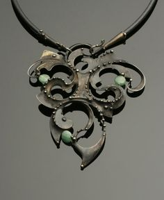 Jade Mixed Metal Necklace by OlivOva on Etsy