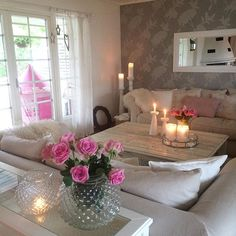WEBSTA @ passion4interior - My livingroom today. Pink touch everywhere #passion4interior_myhome