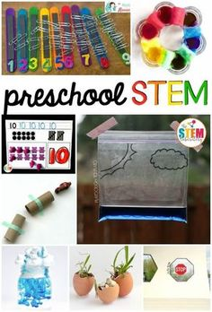 Tons of must-try preschool STEM activities. Preschoolers will love the science, technology, engineering and math projects.