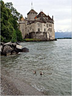 Rainy day at Chillon Castle, Vaud / Switzerland (by CameliaTWU).