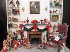 Christmas Roombox from Miniatures by Sandra by nannie