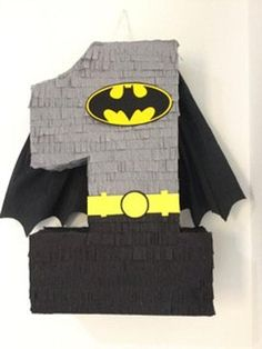 Batman number pinata Leave a note in the order with the number The pinata has its own hole for candy Batman Birthday, Superhero Birthday Party, 6th Birthday Parties, Batman Party Decorations, Birthday Party Decorations, Batman Batman, Batman Party Supplies, First Birthday Banners, Drum