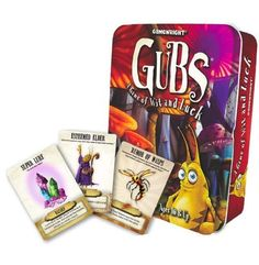"""Gubs by Gamewright. $11.99. From the Manufacturer                Welcome to the enchanted world of the Gubs. Brothers Cole and Alex Medeiros crafted this unique card game that perfectly captures the essence of our company motto """"Games for the Infinitely Imaginative"""". From the richly detailed illustrations, to the whimsical array of cards, to the simple but compelling game play, Cole and Alex came up with a game that has all the trappings of a Gamewright classic. We"""