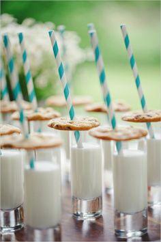 cookies and milk for dessert! Cute display