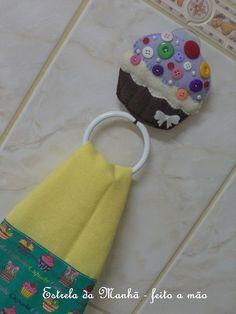 porta pano de prato cupcake by Estrela da Manhã - Feito à mão, via Flickr