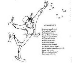 shel silverstein poem - No Grown-Ups