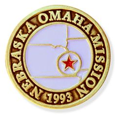 Nebraska Omaha LDS Mission Pin