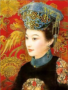 Chinese Beauty by Der Jen (Dezhen) Historical Art, Historical Pictures, Chinese Painting, Chinese Art, Art Asiatique, We Are The World, Creative Pictures, Chinese Culture, Fantastic Art