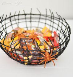 DIY Spiderweb Treat Bowl - creatively spooky!