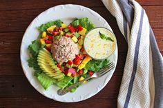 Tuna Mango Salad with Citrus Poppy Seed Dressing