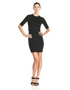 French Connection Womens Tracks Short Sleeve Tunic Dress Black 4 * Continue to the product at the image link. Note: It's an affiliate link to Amazon.